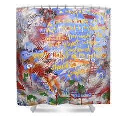 Feeling's Of Affection Shower Curtain