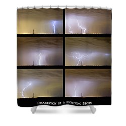 Progression Of A Lightning Storm Shower Curtain by James BO  Insogna