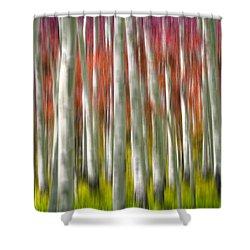 Progression Of Autumn Shower Curtain by Adam Romanowicz