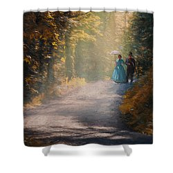 Promenade D'antan Shower Curtain
