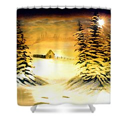 Promises Of A Brighter Day Shower Curtain by Barbara Griffin