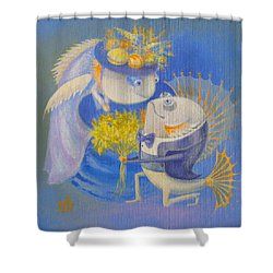 Shower Curtain featuring the painting Proposal by Marina Gnetetsky