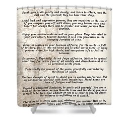 Prose Poem Desiderata By Max Ehrmann  Shower Curtain