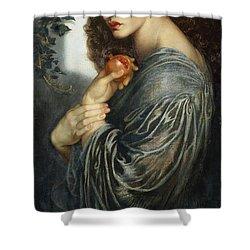 Proserpine Shower Curtain by Dante Charles Gabriel Rossetti