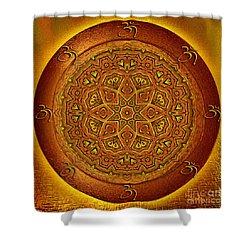 Shower Curtain featuring the digital art Prosperity Mandala - Mandala Art  By Giada Rossi by Giada Rossi