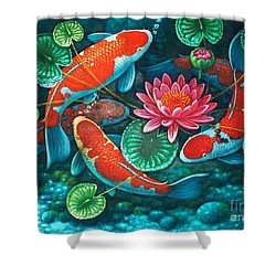 Prosperity Pond Shower Curtain