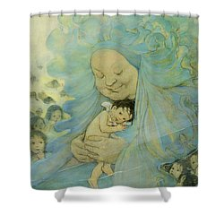 Protection Circa 1916 Shower Curtain by Aged Pixel