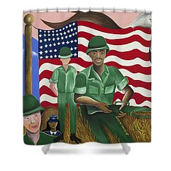 Protectors Of Dreams Shower Curtain by Patricia Sabree