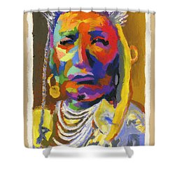 Proud Native American Shower Curtain by Stephen Anderson