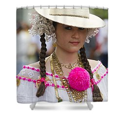 Proud Panama Lady  Shower Curtain by Heiko Koehrer-Wagner