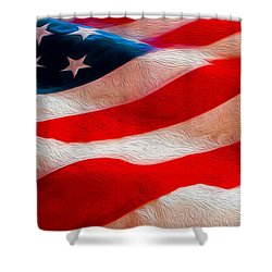 Proud To Be American Shower Curtain by Jon Neidert