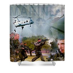 Proud To Serve Shower Curtain by Jon Neidert