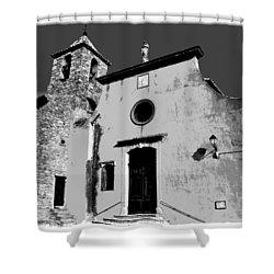 Provencal Church  Shower Curtain