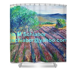 Provence Lavender Field Shower Curtain by Eric  Schiabor