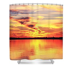 Provincetown Harbor Sunset Shower Curtain by Roupen  Baker