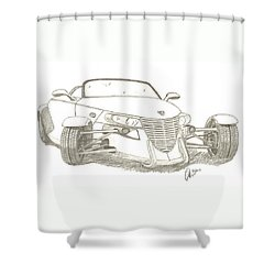 Prowler Sketch Shower Curtain