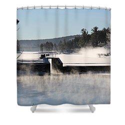 Winter  Pine River Pond  Shower Curtain