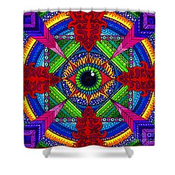 Pry It Open Shower Curtain