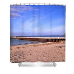 Prybil Beach Pier Shower Curtain