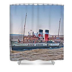 Ps Waverley Approaching Penarth Shower Curtain by Steve Purnell