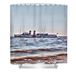 Ps Waverley Leaves Penarth Pier 2 Shower Curtain by Steve Purnell