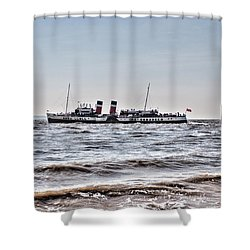 Ps Waverley Leaves Penarth Pier Shower Curtain by Steve Purnell