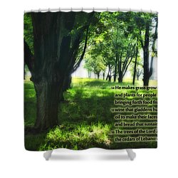 Psalm 104 Shower Curtain