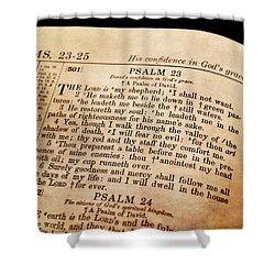 Psalm 23 - The Lord Is My Shepherd Shower Curtain by Deena Stoddard