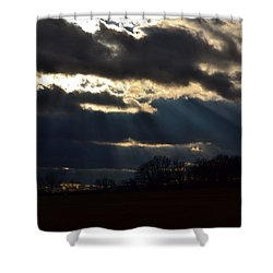 Shower Curtain featuring the photograph Psalm 36 5 by Carlee Ojeda