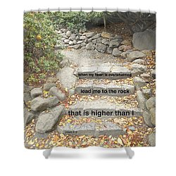 Shower Curtain featuring the photograph Psalm 61 2 by Joan Reese