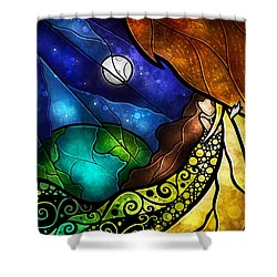 Psalm 91-4 Shower Curtain by Mandie Manzano