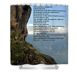 Psalm Of David Shower Curtain by Kirt Tisdale