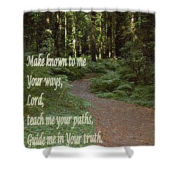 Psalm  - Paths Shower Curtain