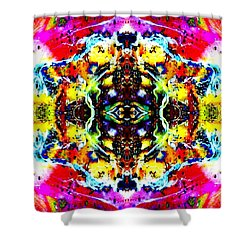 Psychedelic Abstraction Shower Curtain