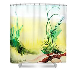 Psychedelic Shower Curtain by Anil Nene