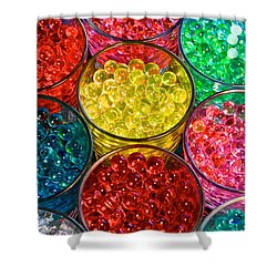 Psychedelic Beads Shower Curtain by Frozen in Time Fine Art Photography