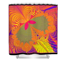 Psychedelic Butterfly Explosion Fractal 61 Shower Curtain by Rose Santuci-Sofranko