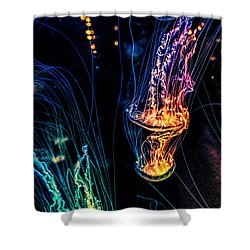 Psychedelic Cnidaria Shower Curtain