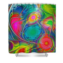 Psychedelic Colors Shower Curtain by Anastasiya Malakhova