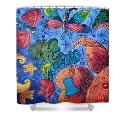 Psychedelic Dreamscape Shower Curtain