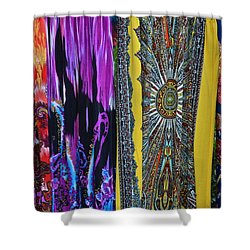 Psychedelic Dresses Shower Curtain by Frozen in Time Fine Art Photography