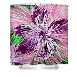 Psychedelic Flower Shower Curtain