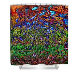 Psychedelic Mind Shower Curtain by Linda Sannuti
