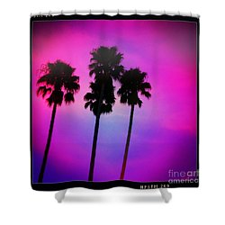 Psychedelic Palms Shower Curtain