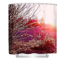 Shower Curtain featuring the photograph Psychedelic Winter   by Martin Howard