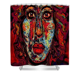 Psychic Shower Curtain by Natalie Holland