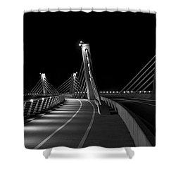 Ptuj Bridge Bw Shower Curtain