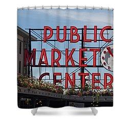 Shower Curtain featuring the photograph Public Market Center by Arlene Carmel