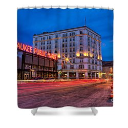 Public Market Zip Shower Curtain