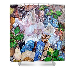 Puddle Shower Curtain by Daniel Janda